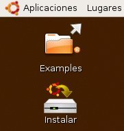 Ubuntu 8.04 - Icono de instalar