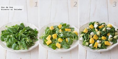 Receta de ensalada de aguacate y mango paso a paso