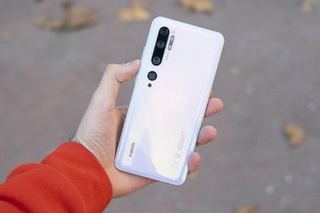 Detalle de la parte trasera del Xiaomi Mi Note 10 Pro
