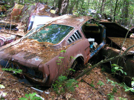 Coches abandonados en Rhode Island