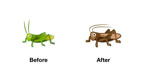 Cricket Emoji Android-OS P Before After