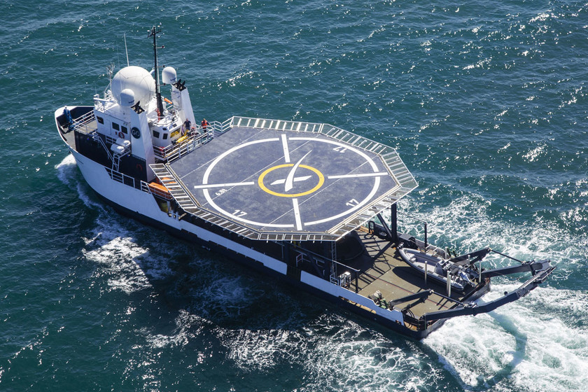 SpaceX actualiza su barco de rescate para astronautas: así se prepara el GO Searcher