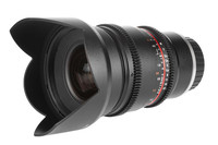 Nuevo objetivo Samyang V-DSLR 16mm T2.2 para cine y compatible con APS-C