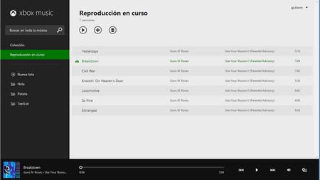 Xbox Music en la web