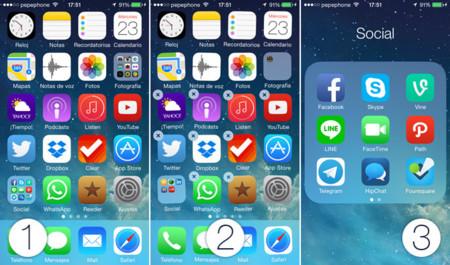 Pantalla inicio iOS 7