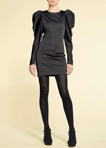 vestidos nochevieja: vestido negro mangas