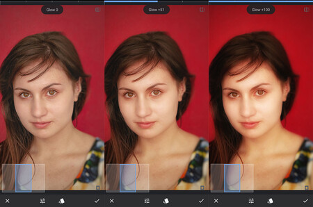 filtro brillo de glamour en snapseed android ios