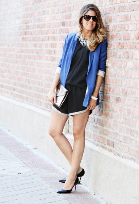 chaqueta azul zara
