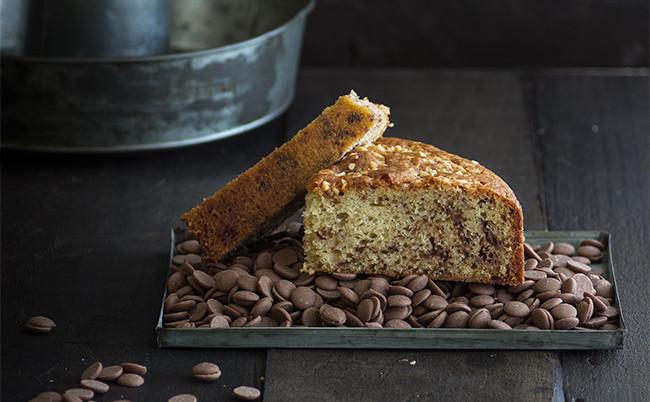 Bizcocho de chocolate con leche y almendras: receta