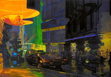 Cityscapes Cars Blade Runner People Concept Art Artwork Syd Mead 2192x1528 Wallpaper Wallpaper 2192x1528 Www Wallmay Net 1024x713