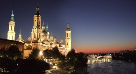 Zaragoza Pilar Desde El Puente De Piedra