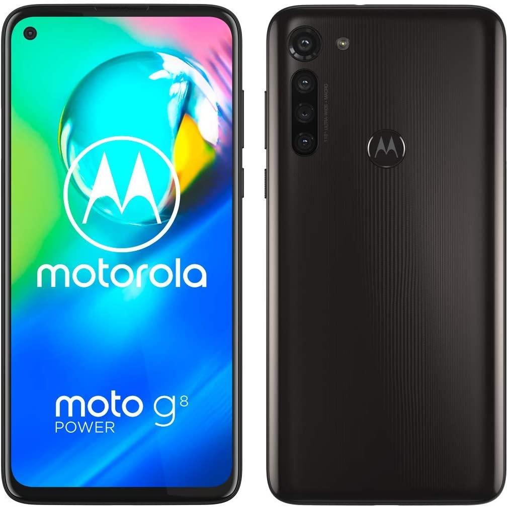 """Motorola Moto G8 Power (Pantalla de 6,4"""" FHD+ o-notch, procesador Qualcomm SnapdragonSD665, cámara principal de 16MP, cámara macro de 2MP, batería de 5000 mAH, Dual SIM, 4/64GB, Android 10), Negro"""