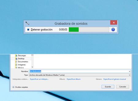 Grabación de sonido en Windows