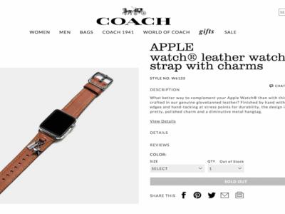 Coach se adelanta a la WWDC y confirma sus correas exclusivas del Apple Watch