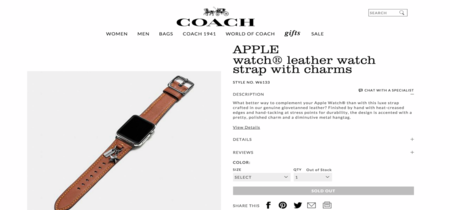 Coach se adelanta a la WWDC y confirma sus correas exclusivas del Apple Watch