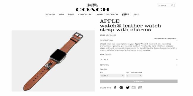 Correa Coach Apple™ Watch
