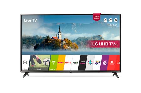 Resolución 4K y 55 pulgadas por sólo 749 euros en este televisor LG 55UJ630V de Amazon
