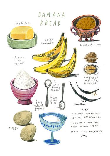 Ilustraciones paso a paso de recetas de todo el mundo