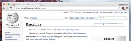 Wikipedia Secciones