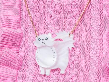 Tatty Devine Battersea Persian Cat Necklace