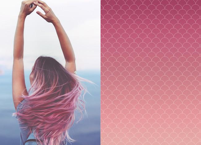 Pink Mermaid Hair Design