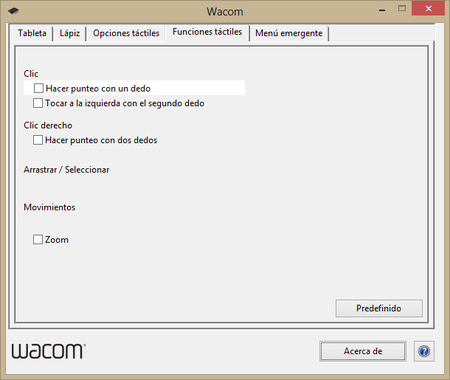 Wacom preferencias 4