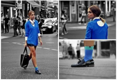 Azul jersey verano