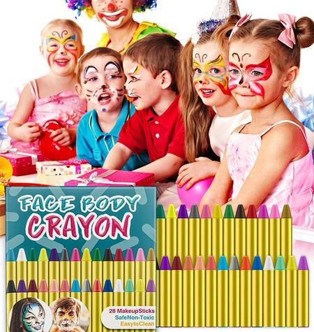 Pinturas Faciales Para Ninos No Toxicas En 28 Colores