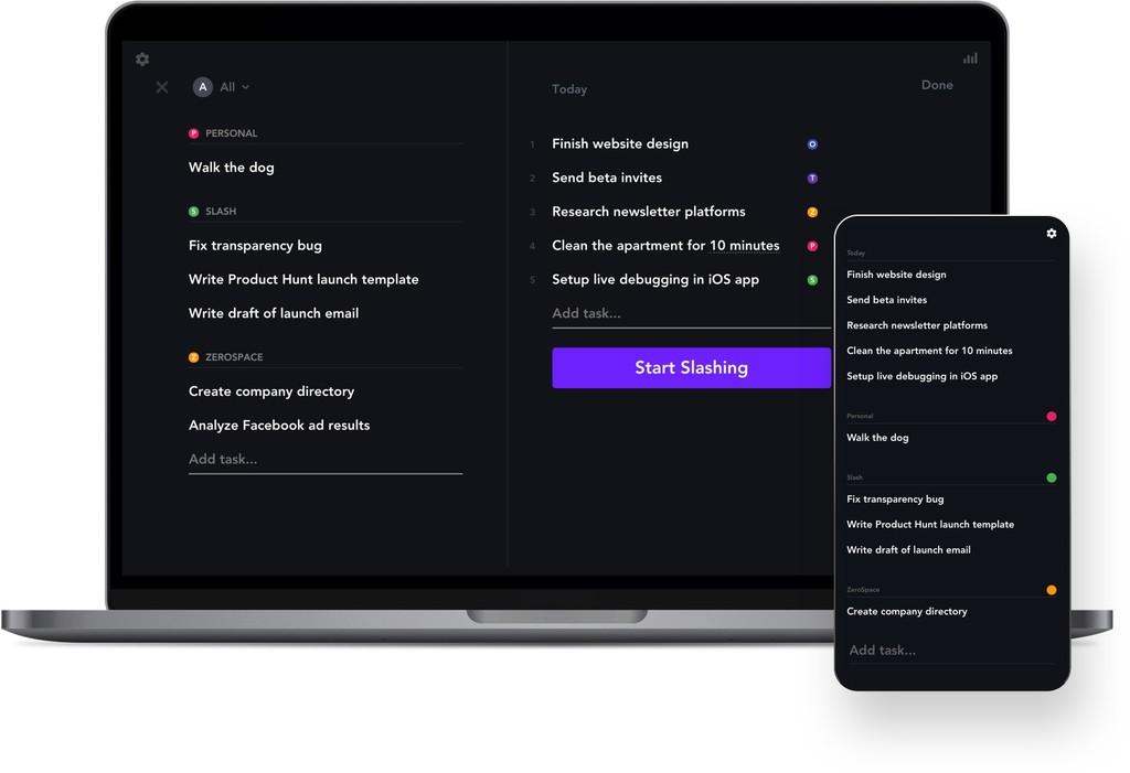 Slash: una aplicación de productividad que busca ayudarte a completar tus tareas una por una