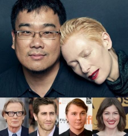 Swinton, Nighy, Gyllenhaal, Dano y Macdonald en el nuevo film de monstruos de Bong Joon-ho