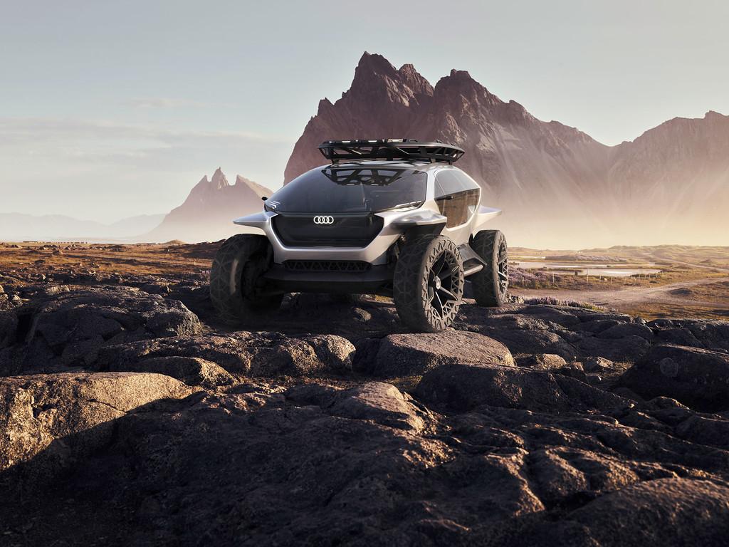 Mejor que faros, drones: así es el Audi AI:TRAIL quattro, un concepto de todo terreno futurista de Audi