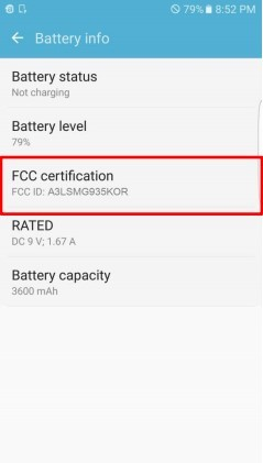 Galaxy S7 Edge Battery