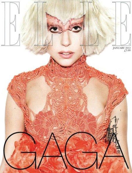 Lady Gaga se duplica en Elle UK
