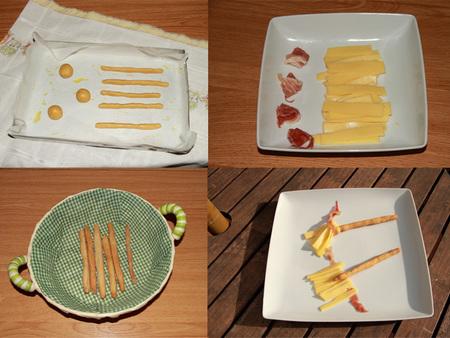 Paso a paso escobas de bruja con queso gouda sin lactosa