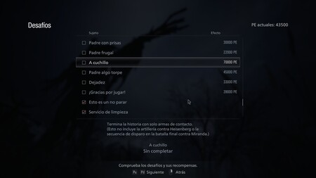 Resident Evil Village Desafio A Cuchillo