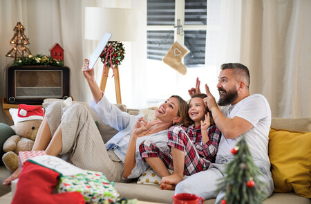Navidad Familia Selfie