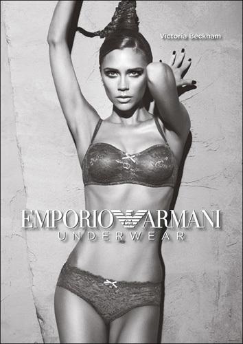 Primera imagen de la nueva campaña de Armani Lengerie con Victoria Beckham