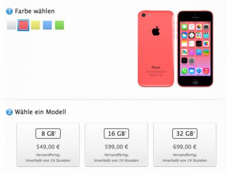 Apple lanza el iPhone 5c de 8 GB oficialmente