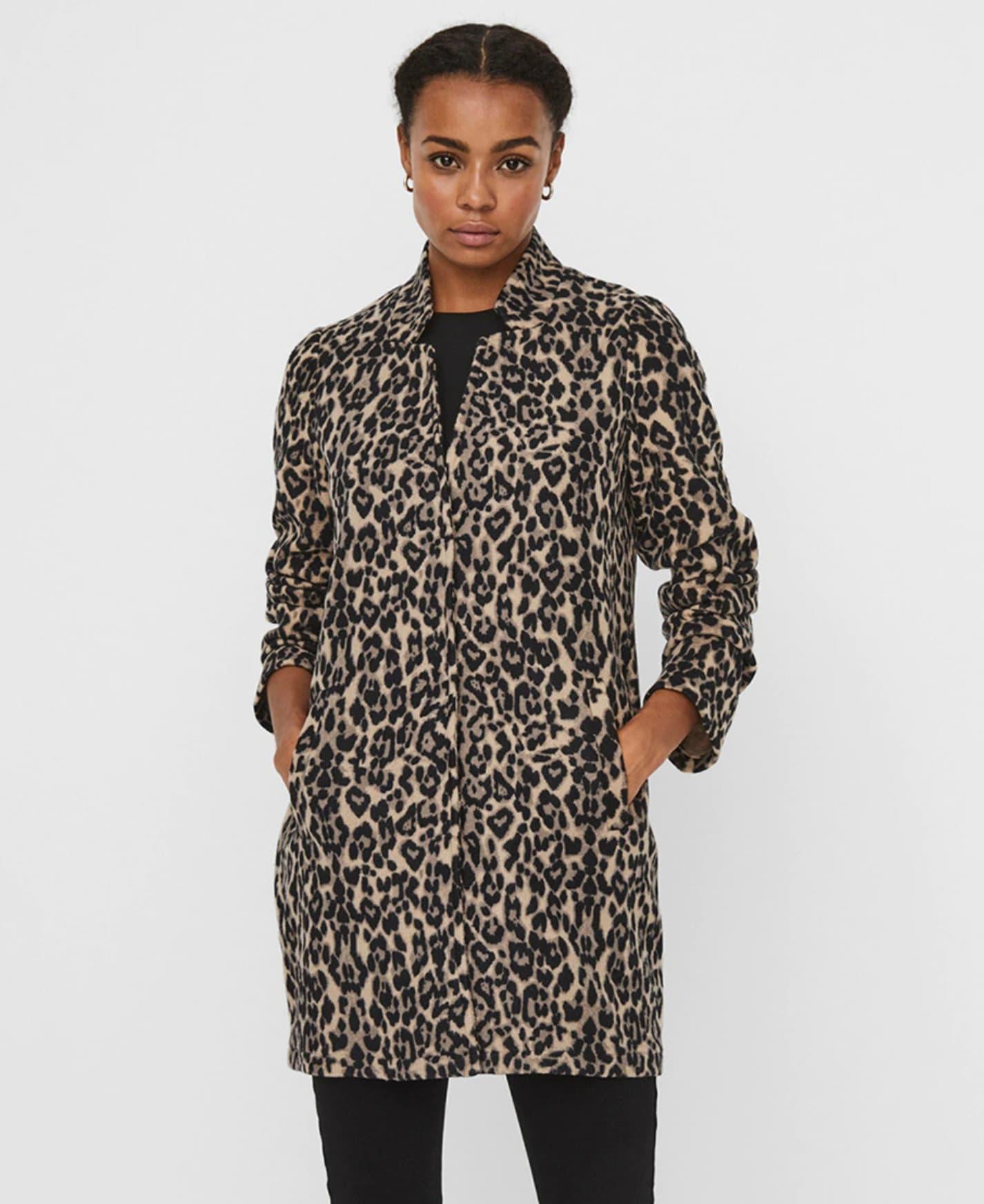 Abrigo fino de mujer manga larga