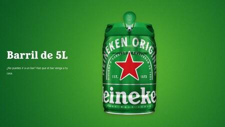 El barril de cerveza más vendido de Amazon es de Heineken, no necesita grifo y te lo envían gratis a casa en packs de 10 litros