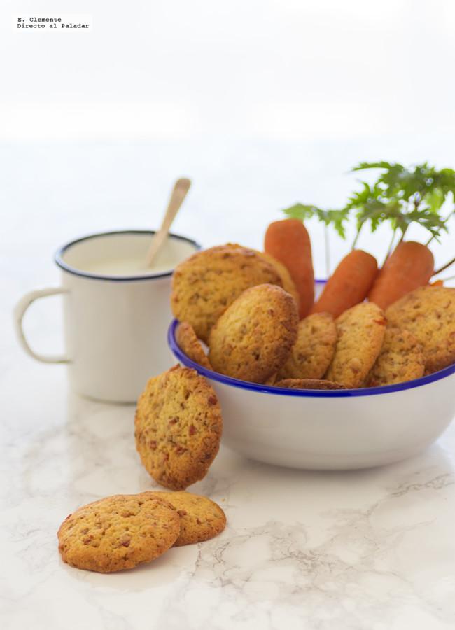 Cookies de almendra y zanahoria caramelizada. Receta
