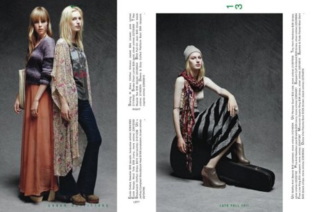 Hippies Catálogo Urban Outfitters Invierno 2011