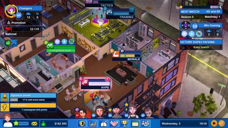 Casa gaming de Esports Life Tycoon