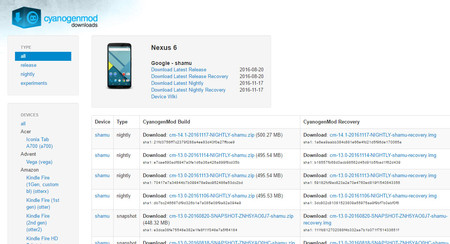 Las nightlies de CyanogenMod 14.1 llegan a más dispositivos: Nexus 7, OnePlus One, Xperia T...