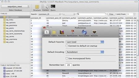 Gestión de MySQL para Mac OS con Sequel Pro