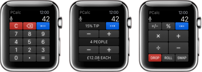 Pcalc Apple Watch