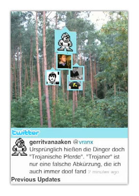 TwittARound, Twitter y realidad aumentada en un iPhone 3GS