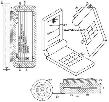 Patente de Motorola para un teléfono enrollable