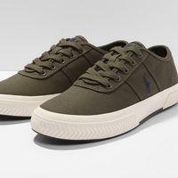 40% de descuento en las zapatillas  Polo Ralph Lauren Tyrian en verde oliva: ahora cuestan 41,95 euros en Zalando