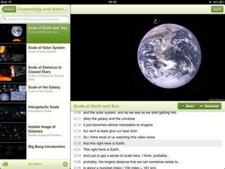 Khan Academy, todo para aprender mediante vídeos en tu iPad